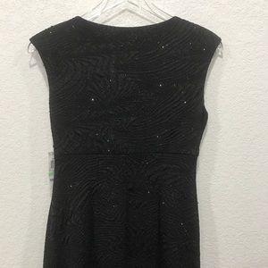Alfani Dresses - Alfani NWT surplice dress sparkly black cap sleeve